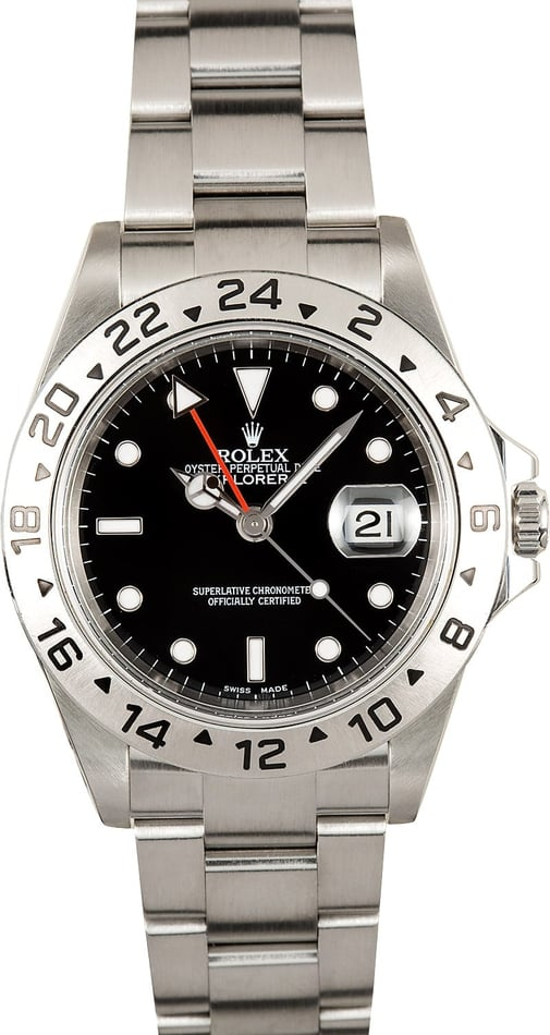 Rolex Explorer II Black 16570 Certified Pre-Owned