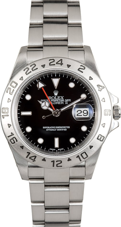 Rolex Explorer II Steel 16570 Black Dial
