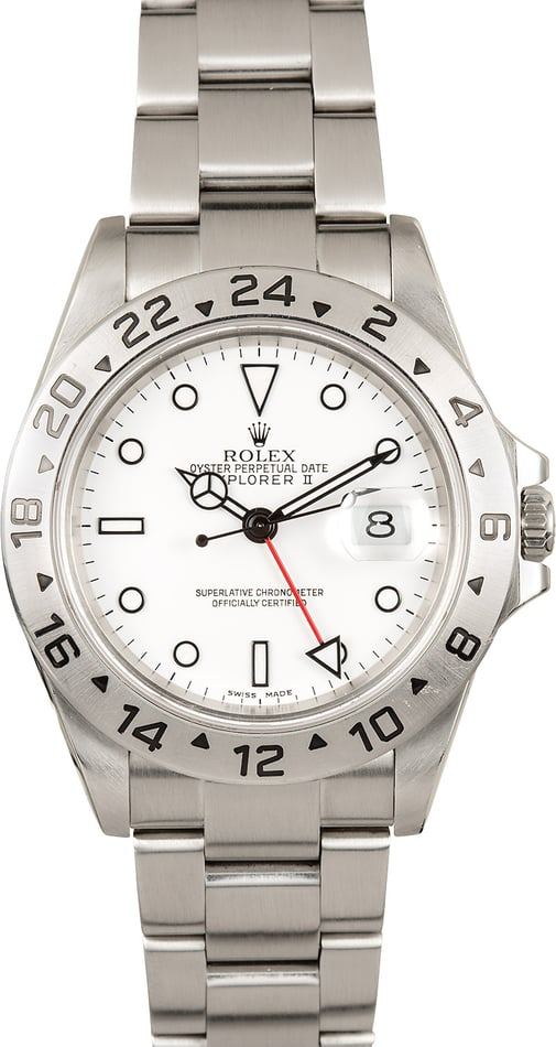 Rolex Explorer II White Dial 16570 Pre-Owned