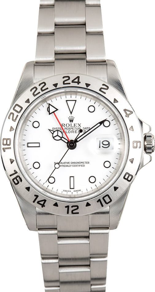 Rolex Explorer II White Stainless Steel 16570