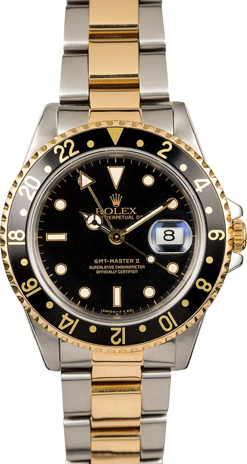 Certified Rolex GMT-Master II Ref 16713 Two Tone Oyster