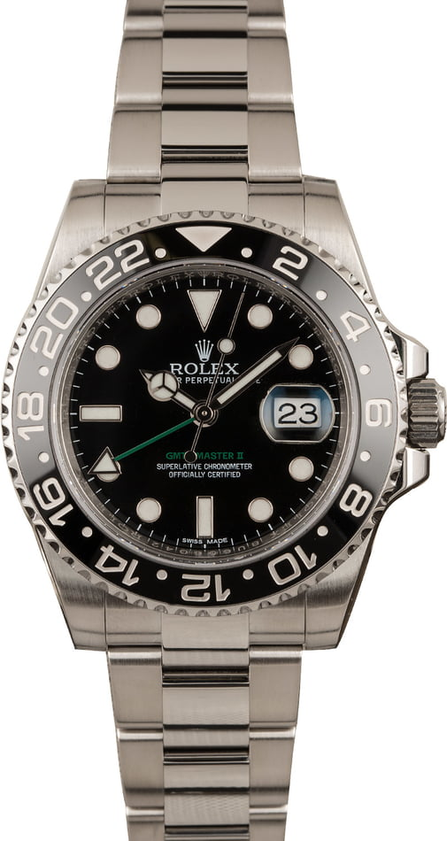 PreOwned Rolex GMT-Master II Ref 116710 Black Ceramic Bezel 40MM