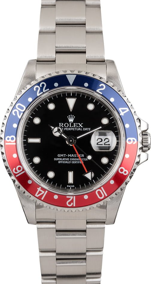Pre-Owned Rolex GMT-Master 16700 'Pepsi' Insert