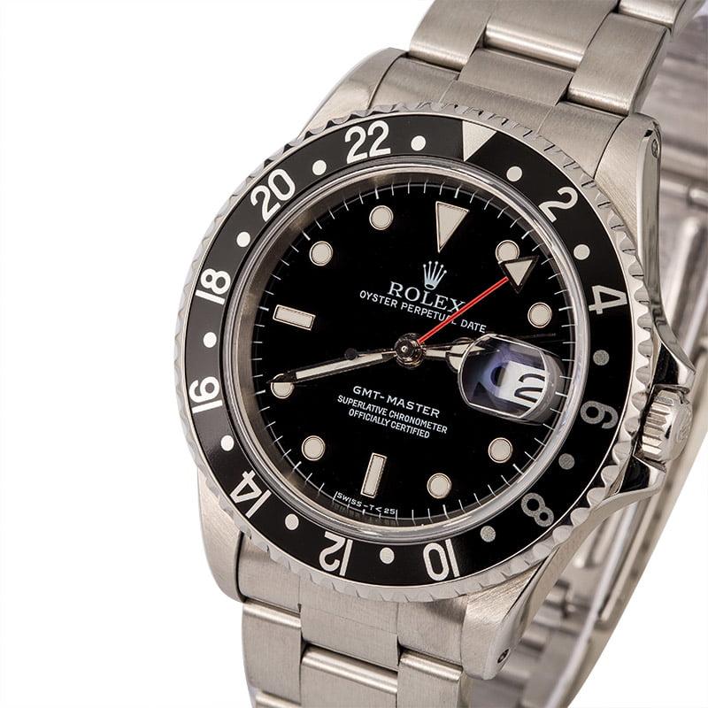 798606cadbaf Pre Owned Rolex GMT-Master Steel 16700