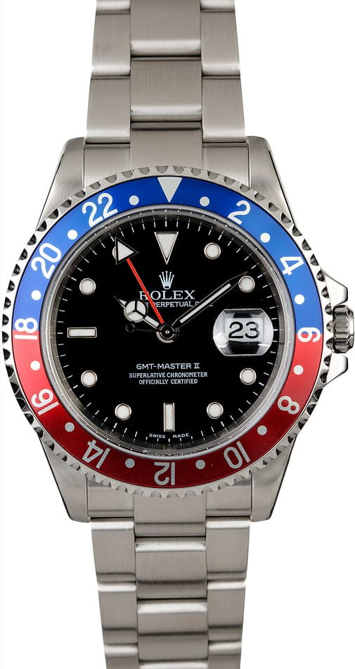 Rolex GMT-Master II 'Pepsi' 16710 No Holes Case