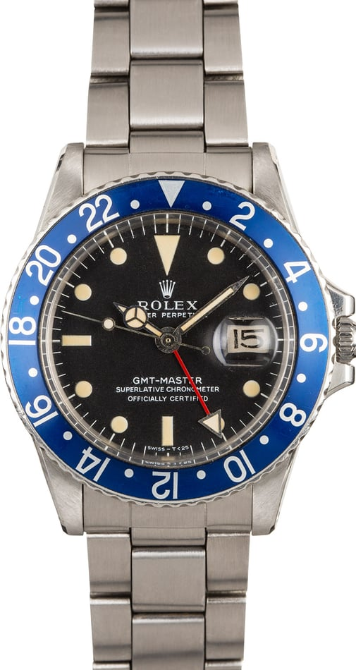 Vintage 1971 Rolex GMT Master 1675 Blueberry