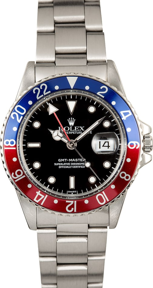 Rolex GMT-Master 16750 Red and Blue Pepsi Bezel