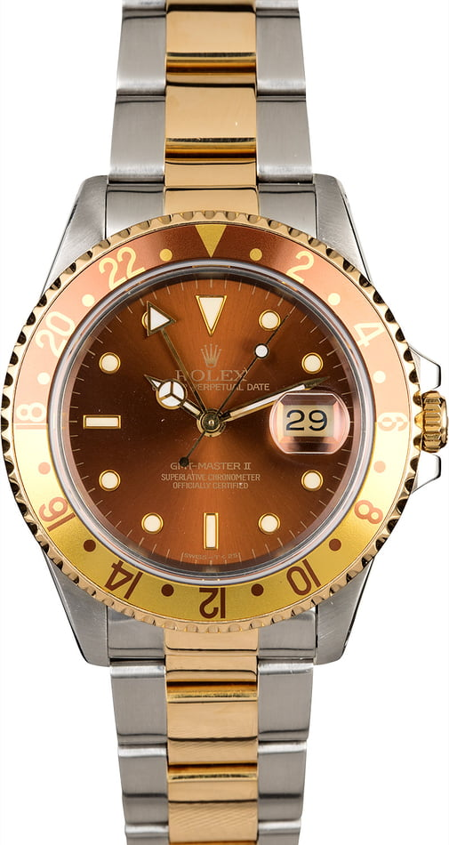 Rolex GMT-Master 16753 'Root Beer' Two Tone Osyter