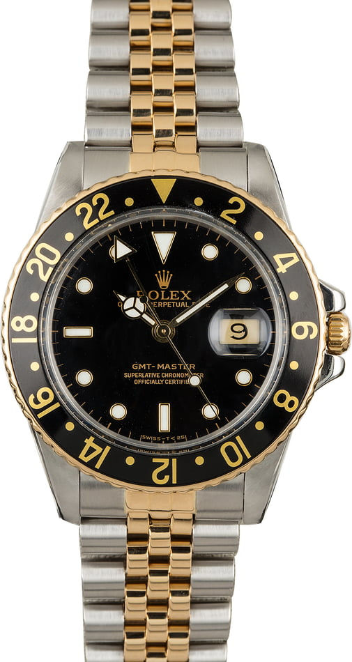 PreOwned Rolex GMT-Master 16753 Two Tone Watch