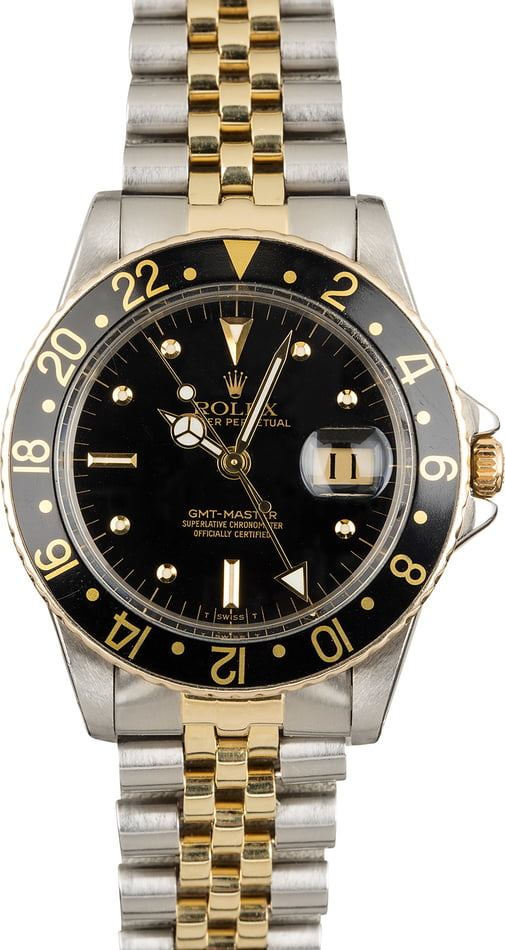 Rolex GMT-Master 16753 Black 'Nipple' Dial