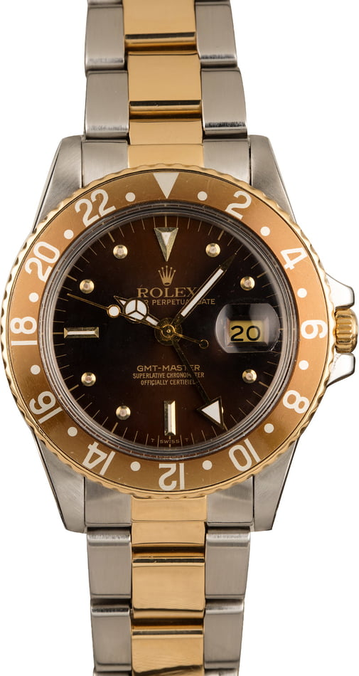 Used Rolex Two Tone GMT-Master 16753 'Root Beer' Insert T