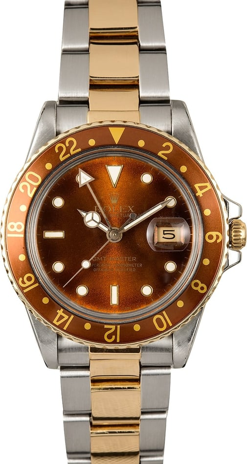 Rolex GMT-Master 16753 Root Beer 100% Authentic