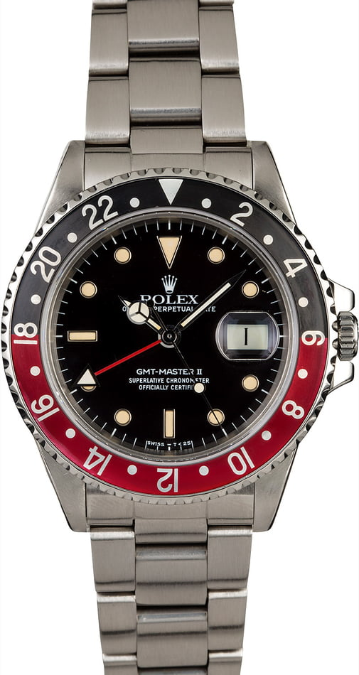 Pre-Owned Rolex GMT-Master II Ref 16760 Fat Lady Coke