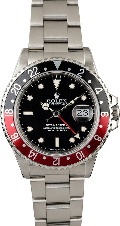 PreOwned Rolex GMT-Master II Ref 16760 'Fat Lady Coke'