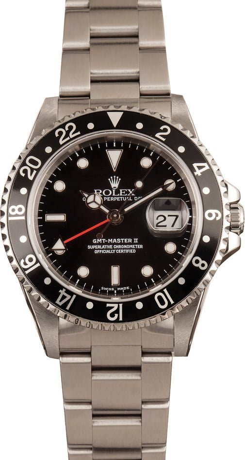 Pre-Owned Rolex GMT Master II 16710 Red GMT Hand