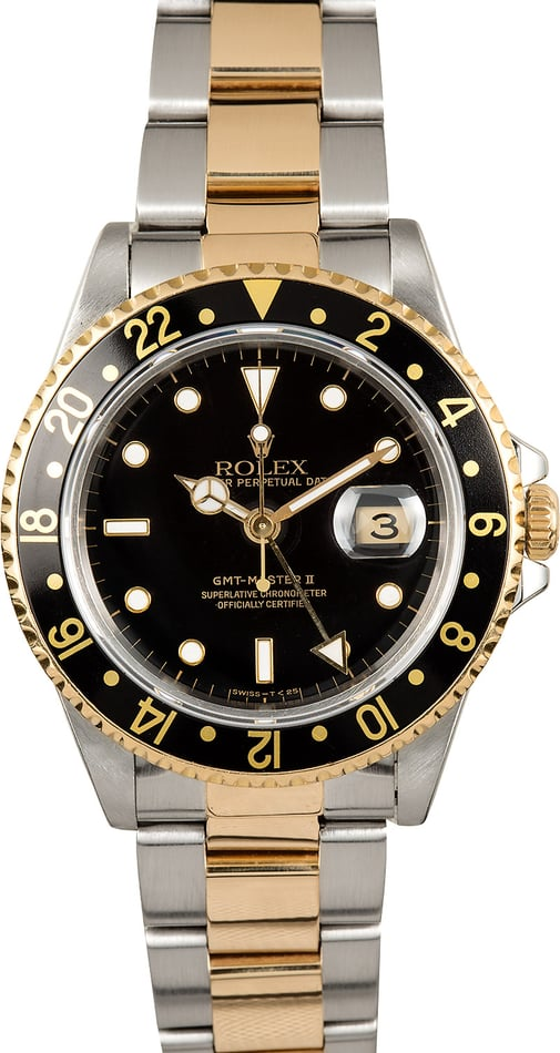 Rolex GMT Master II 16713 Black Dial