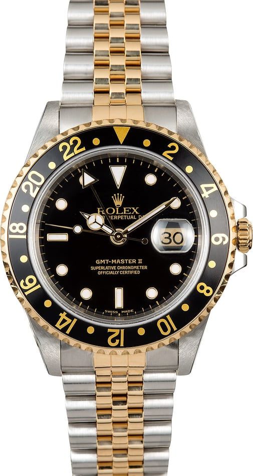 Rolex GMT-Master II 16713 Black Two-Tone Jubilee