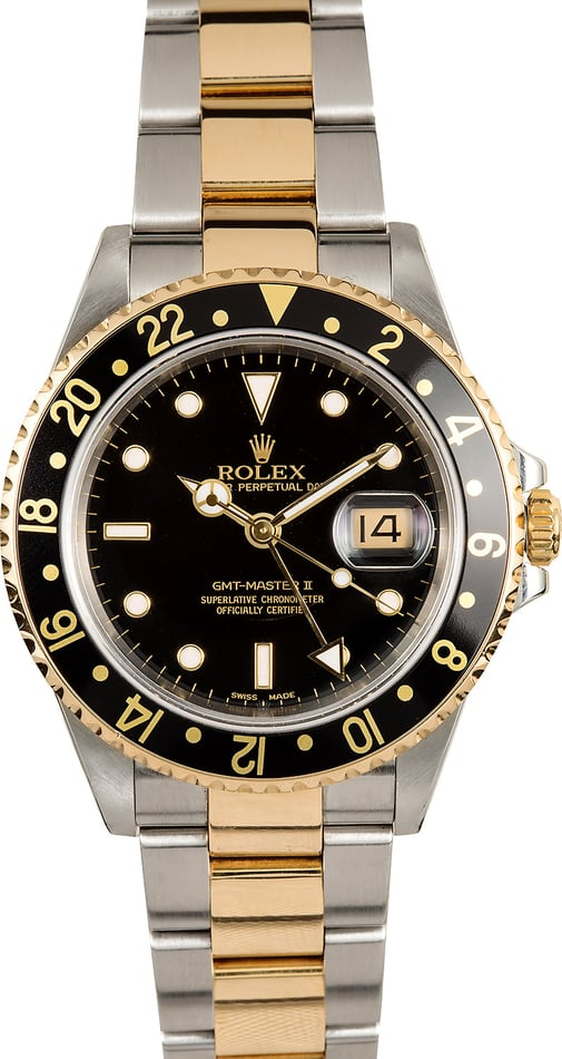 Rolex GMT Master II 16713 Two-Tone 100% Authentic