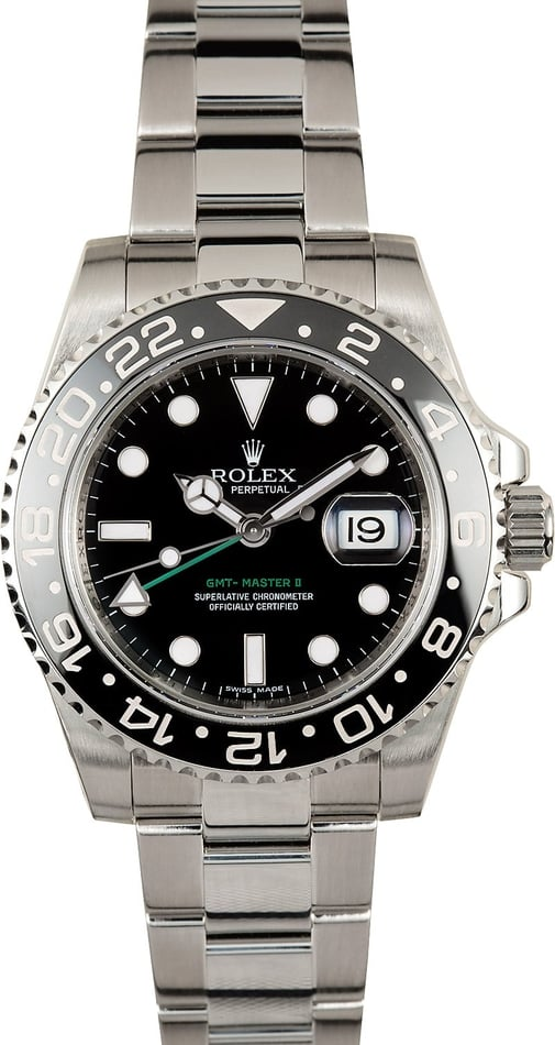 Rolex GMT Master II Black 116710 Green GMT Hand