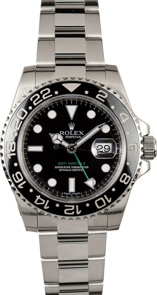 Rolex GMT Master II Ceramic 116710 Certified Pre-Owned
