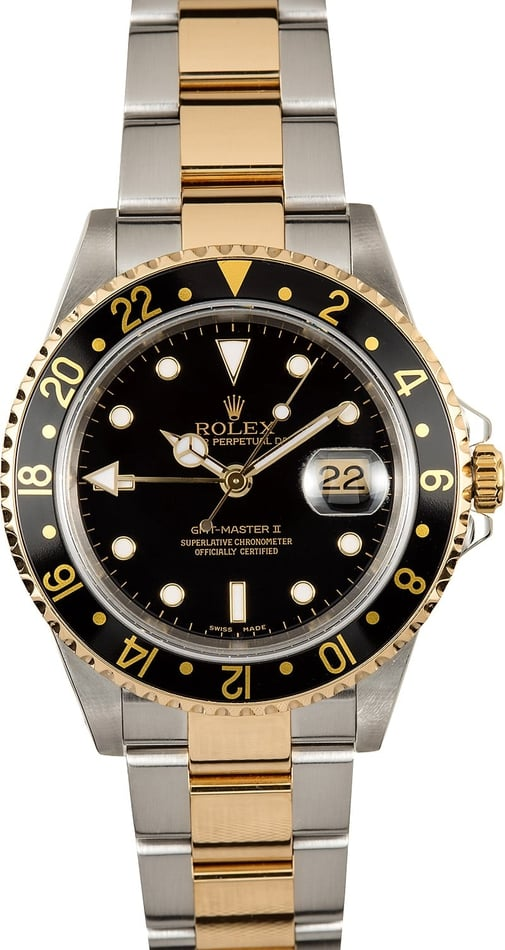 Rolex GMT Master II Two Tone 16713