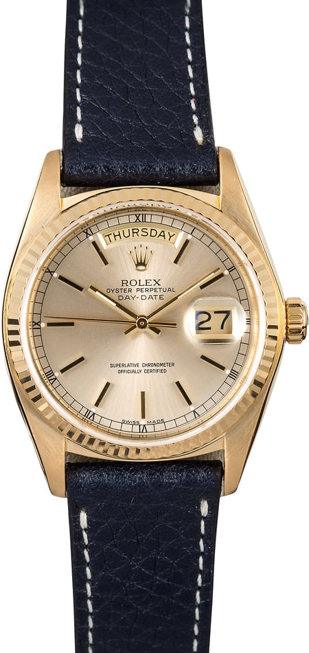 Rolex Gold Day-Date 18078 Leather