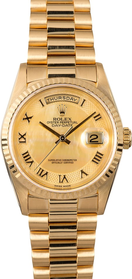 Rolex Gold President 18238 Mother of Pearl