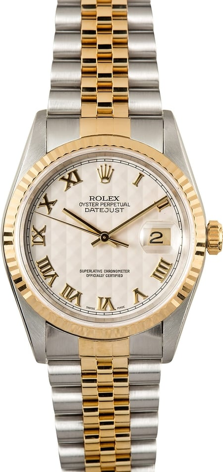 Rolex Datejust 16233 Ivory Pyramid Dial