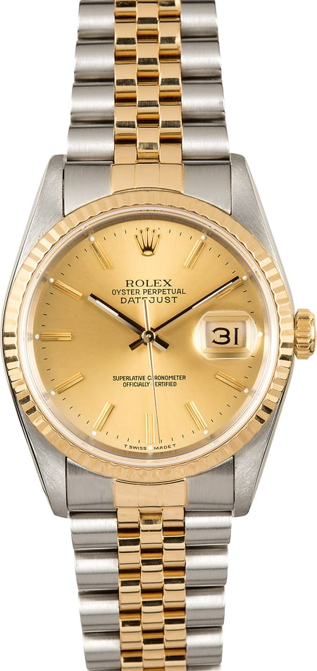 Rolex Men's Two-Tone Datejust 16233 Jubilee