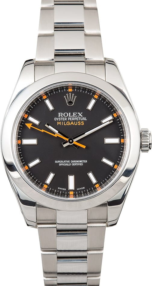 Men's Used Rolex Milgauss 116400 Black
