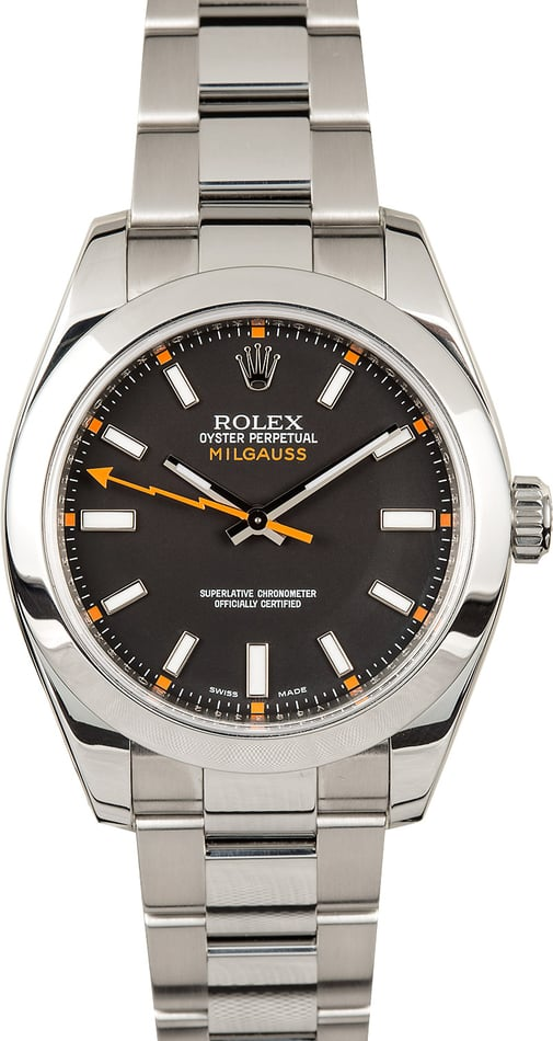Rolex Milgauss 116400 Black Luminous Dial
