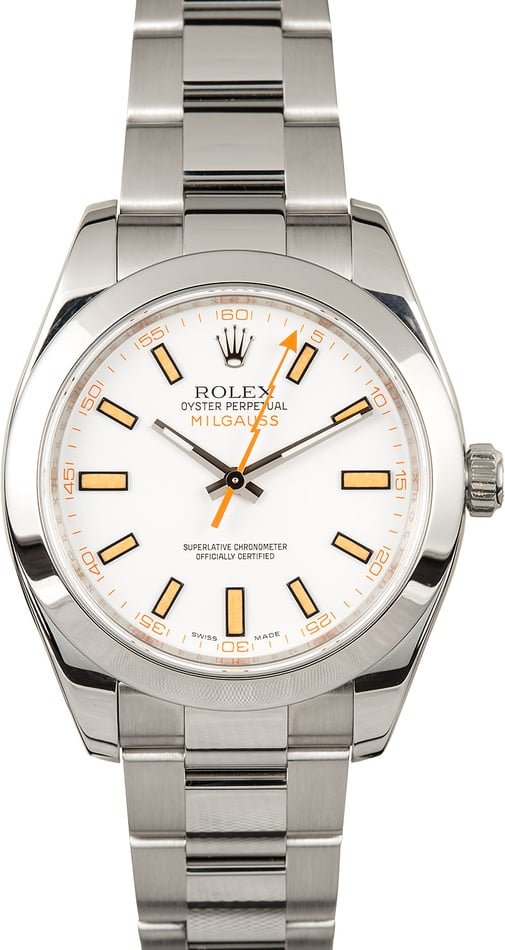 Certified Rolex Milgauss 116400 White Dial