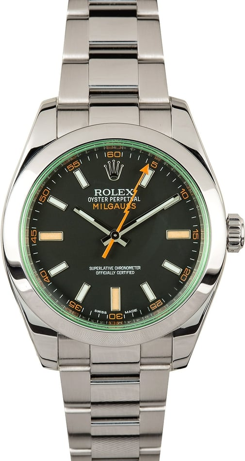 Rolex Milgauss 116400GV Anniversary 100% Authentic