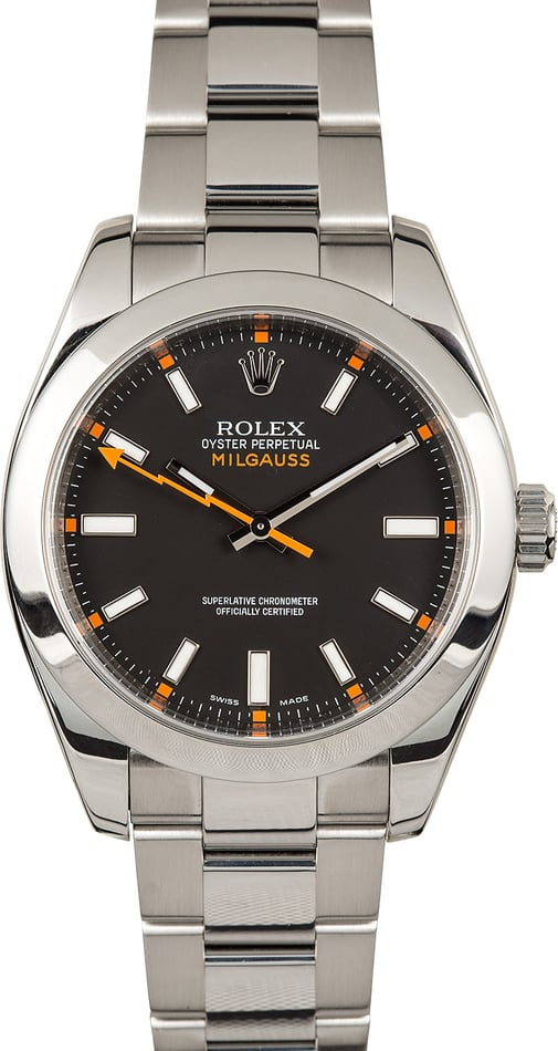 Rolex Milgauss 116400 Black Dial 40MM