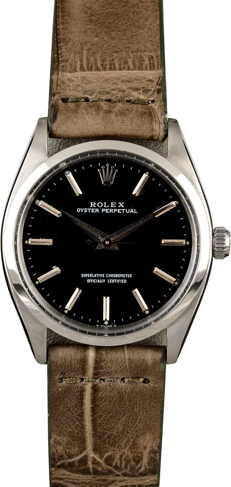 Rolex Vintage Oyster Perpetual 1002 Silver Dial