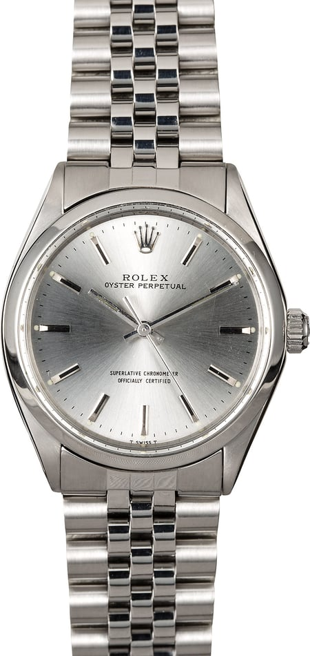Rolex Oyster Perpetual 1002 Silver Dial