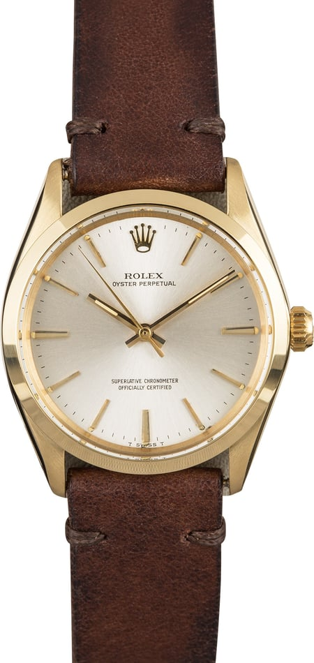 Vintage Rolex Oyster Perpetual 1002 Silver Dial