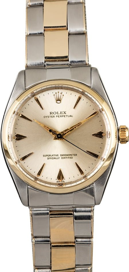 Vintage Rolex Oyster Perpetual 1002 Two Tone