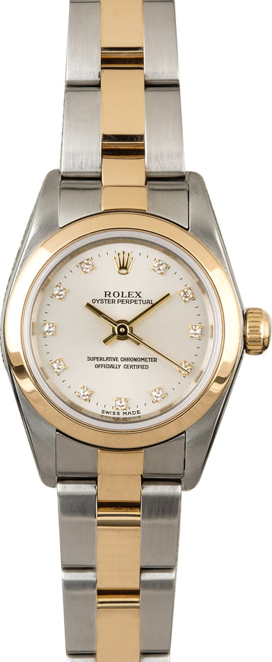 Rolex Lady Oyster Perpetual 76183 Diamonds
