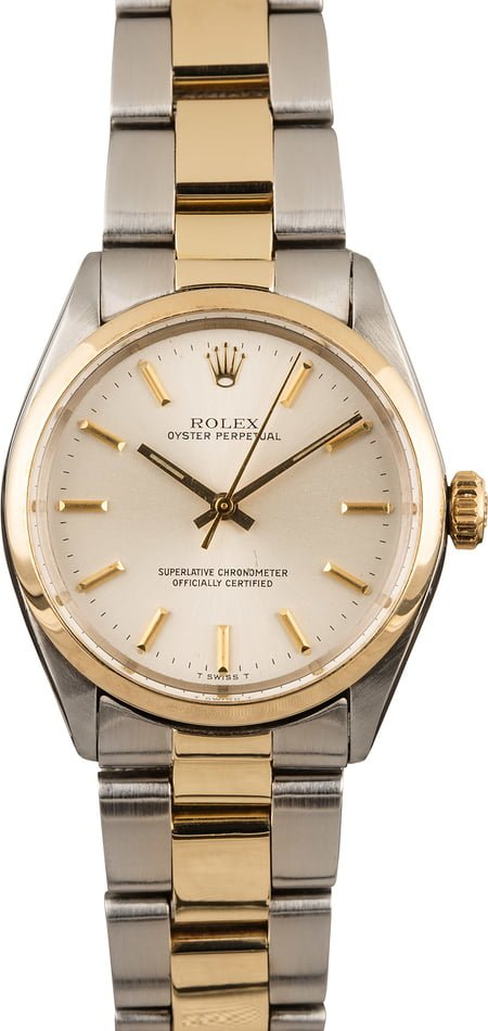 Pre Owned Rolex Oyster Perpetual 1002 Two Tone