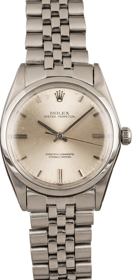 Used Rolex Oyster Perpetual 1018 Steel Oval Link Bracelet