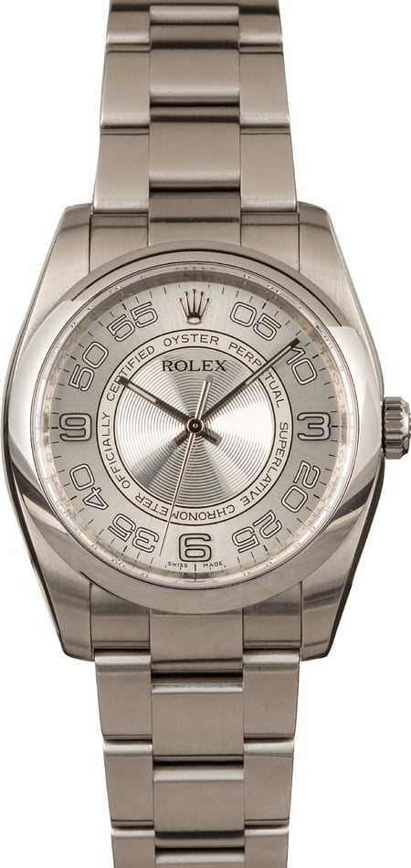 Pre Owned Rolex Oyster Perpetual 116000 Arabic Dial