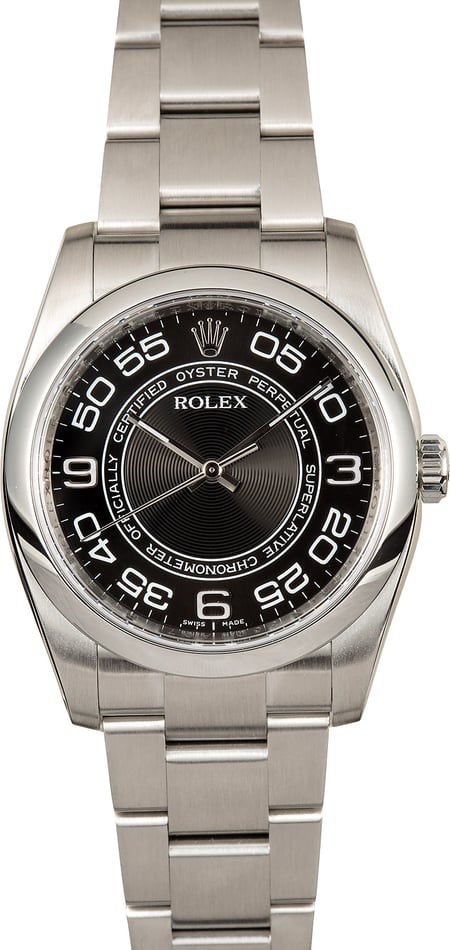 Rolex Oyster Perpetual 116000 Black Concentric