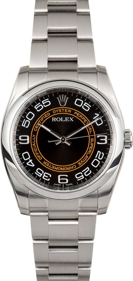 Rolex Men's Oyster Perpetual 116000 Orange