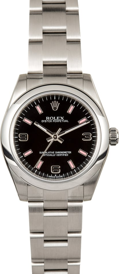 Rolex Oyster Perpetual 31mm 177200 Black