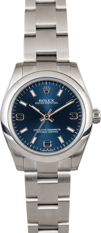 Rolex Oyster Perpetual 31mm 177200 Blue