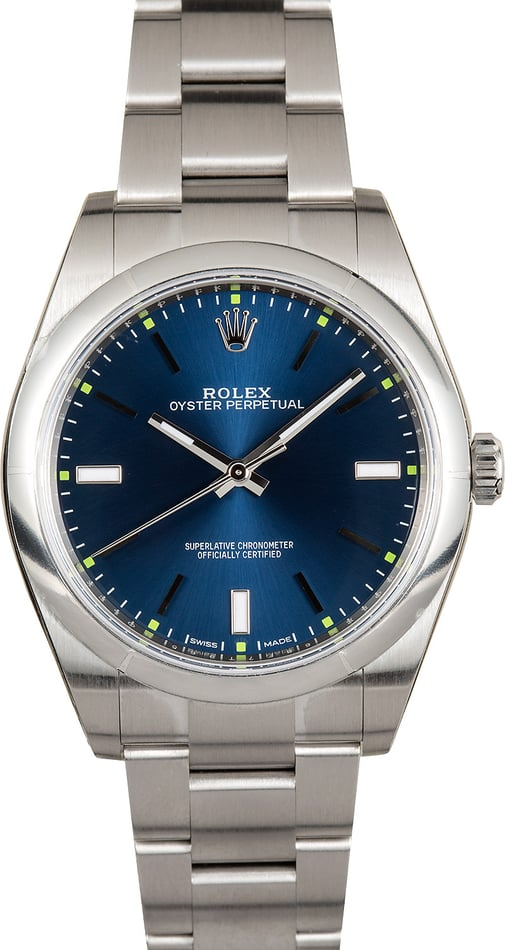 Rolex Oyster Perpetual 39 114300 Blue