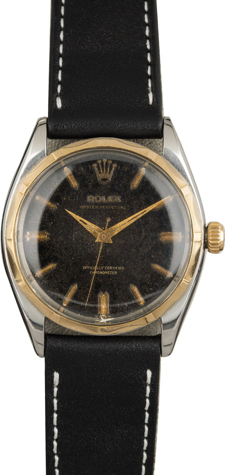 Vintage Rolex Oyster Perpetual 6566 Black Dial