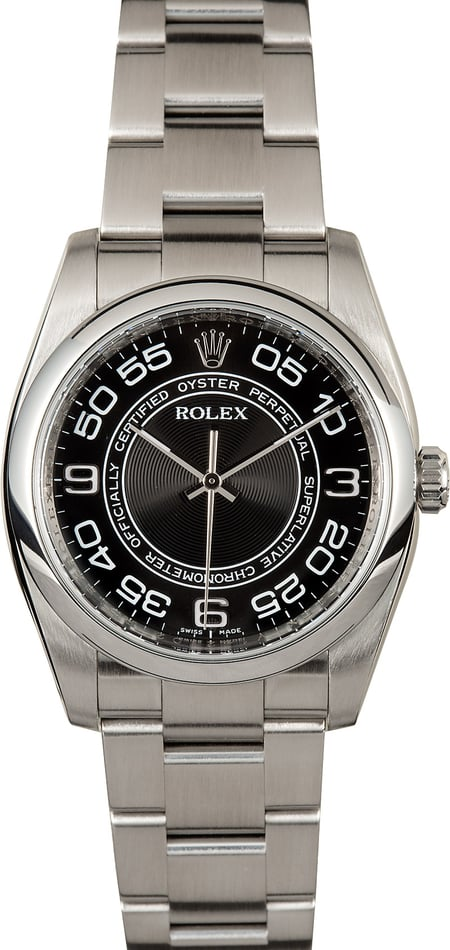 Rolex Oyster Perpetual 116000 Black Concentric Dial