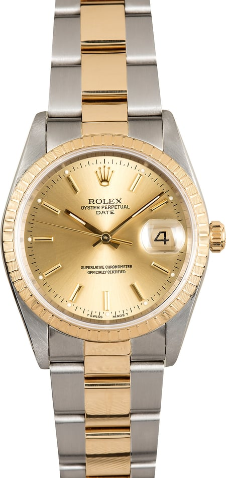 Rolex Oyster Perpetual Date 15223 Champagne